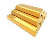 Gold Bar Pyramid Royalty Free Stock Image