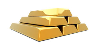 Gold Bar Pyramid Royalty Free Stock Photo