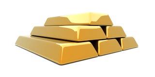 Gold Bar Pyramid Royalty Free Stock Photo