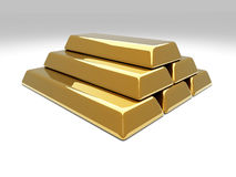 Gold Bar Pyramid Stock Photo