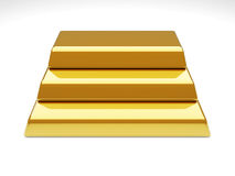Gold Bar Pyramid Royalty Free Stock Images