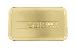 Gold bar. Refined fine gold brick bar Royalty Free Stock Image