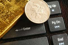 Gold bar scene. Stock Image