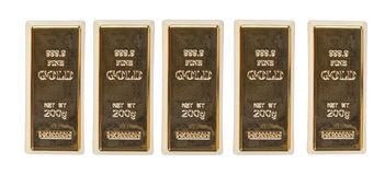 Gold bar top view Stock Photography