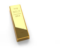 Gold bar on the White Background Royalty Free Stock Photo