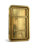 Gold Bar. On white background. Clipping path included for easy selection Royalty Free Stock Photo