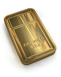 Gold Bar. On white background. Clipping path included for wasy selection Stock Photos