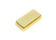 Gold bar in white background Royalty Free Stock Image