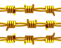 Gold - Barbed wire Stock Image