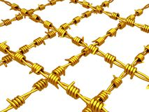 Gold - Barbed wire Royalty Free Stock Photography