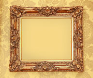 Gold Baroque frame Stock Photos