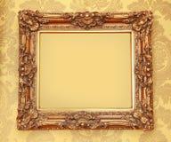 Gold Baroque frame stock photos