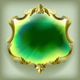 Gold baroque frame Stock Image