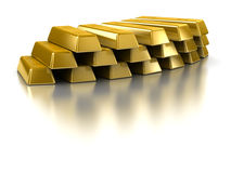 Gold Bars. Isolated on white Royalty Free Stock Image