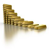 Gold Bars. Isolated on white Royalty Free Stock Photography