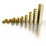 Gold Bars. Isolated on white Stock Photo