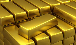 Gold bars. Royalty Free Stock Photography