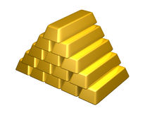 Gold Bars royalty free illustration