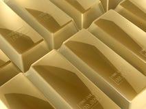 Gold bars. 3d gold bars close up shoot Royalty Free Stock Photos
