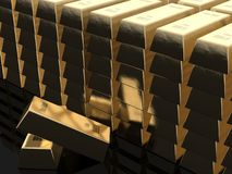 Gold bars. With 999.9 fine gold writing Royalty Free Stock Image