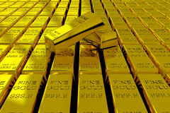 Free Gold Bars Royalty Free Stock Photography - 19499987