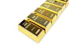 Gold bars. On white background stock photo
