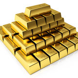 Gold bars. Isolated on white background Royalty Free Stock Photography