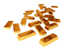 Gold bars. Illustration of Goldbars made in 3D Royalty Free Stock Photos