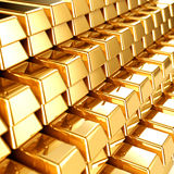 Gold Bars. 3d illustration of gold bars Stock Photography