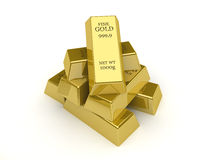 Gold bars. Concept 3D illustration Royalty Free Stock Image