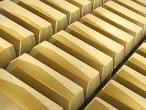 Gold bars Stock Image