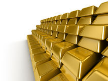 Gold Bars. In a raw Royalty Free Stock Photography