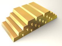Gold bars. Some gold bars Stock Images
