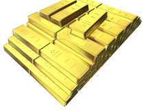 Gold bars. Some gold bars Stock Photos