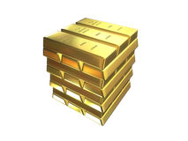 Gold bars. Some gold bars Royalty Free Stock Image