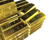 Gold bars. Some gold bars Stock Photography