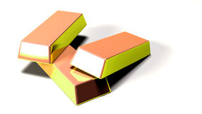 Gold bars. 3d models of gold bars Stock Images