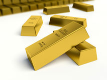 Gold bars. American Gold reserves concept. Stock Photography