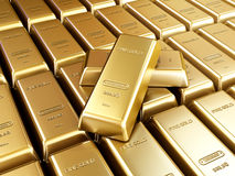 Gold bars arrangement Stock Images