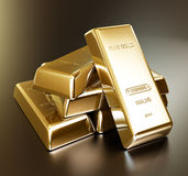 Gold bars arrangement Royalty Free Stock Photo