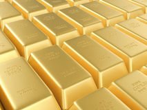 Gold bars background Stock Photography