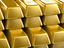Gold Bars. Background with stacks of golden bars Royalty Free Stock Photography