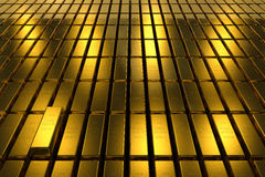 Gold bars block Three Dimension concept Background Stock Photo