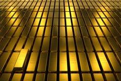 Gold bars block Three Dimension concept Background Stock Photo