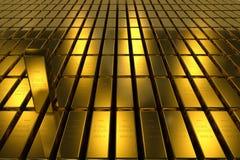 Gold bars block Three Dimension concept Background Stock Image