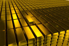 Gold bars block Three Dimension concept Royalty Free Stock Photo