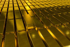 Gold bars block Three Dimension concept Royalty Free Stock Photos