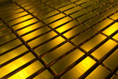 Gold bars block Three Dimension concept. Gold bars three dimension concept millionaire business Background stock image