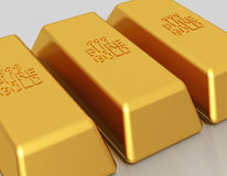 Gold bars - bullion Stock Image