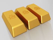 Gold bars - bullion Royalty Free Stock Photo